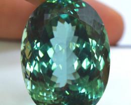 71.40 Carats Oval Cut Lush Green Spodumene Gemstone From Afghanistan