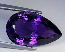 13.25 ct Exclusive Gem  Stunning  Pear Cut Natural Purple Amethyst