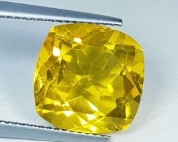 10.00ct Top Grade Gem Beautiful Octagon Cut Natural Yellow Fluorite