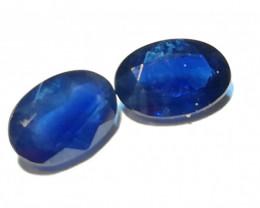 Saphir- Päärchen 1,065ct tiefblau top Qualität