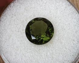4,06ct Moldavite - Natural faceted Tektite!