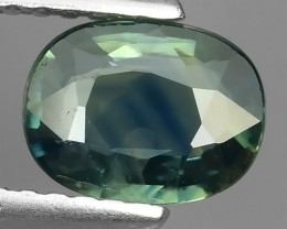 1.10 CTS AWESOME BLUE SAPPHIRE FACET GENUINE HEATED MADAGASCR!!