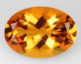 4.96 Cts Natural Golden Orange Citrine 14x10mm Oval Cut Brazil