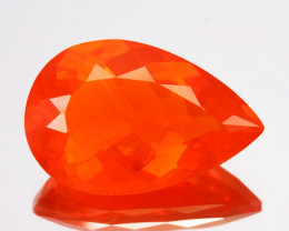 4.41 Cts Natural Top Orange Fire Opal Mexico Gem (Video Avl)