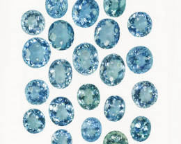 27.45Ct Natural Blue Aquamarine Oval Parcel