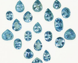 18.85Ct Natural Blue Aquamarine Pear,Oval Parcel