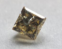 0.117 cts Champagne colour, princess cut diamond