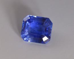 9.52ct Emerald Cut Blue Sapphire, Unheated