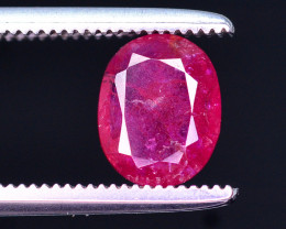 Attractive Color 1.00 Ct Natural Red Ruby From Afghanistan.HM