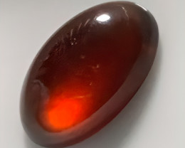 5.51ct LARGE ORANGE HESSONITE GARNET CAB - No Reserve