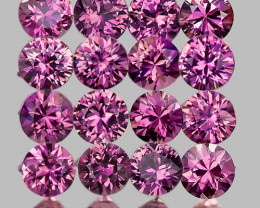 2.20 mm Round 20pcs 1.11cts Unheated Lavender Pink Sapphire [VVS]