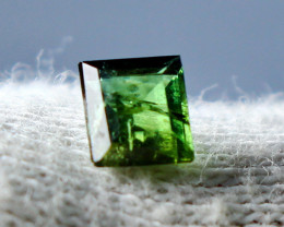 0.70 CT Natural - Unheated Green   Tourmaline  Gemstone