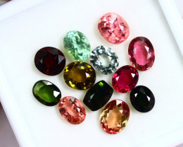 18.19cts Natural Vivid Colour Tourmaline Lots / RD98