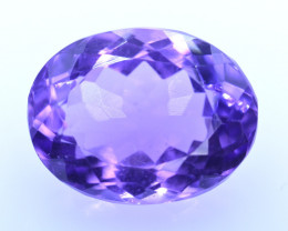 8.17 Cts Amazing Amethyst Brilliant Cut and Color - AMT40