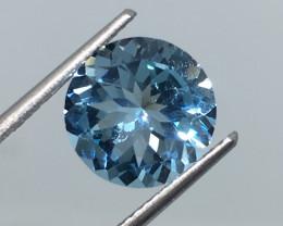3.95 Carat Topaz Swiss Blue Brazilian Beauty!
