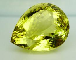 Clean Fabulous! 110.95 ct. Natural Top Yellow Lemon Quartz Brazil– IGE Cert
