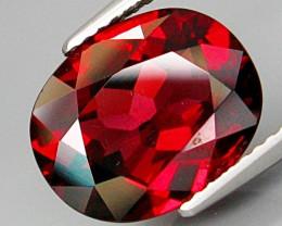 5.89 Ct. Natural Top Red Rhodolite Garnet Africa  – IGE Certificate
