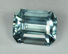8.54 Cts Stunning Lustrous Natural Aquamraine