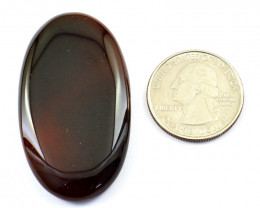 Genuine 80.00 Cts Onyx Oval Shape Cabochon