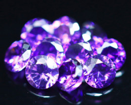 3.22Ct Natural Uruguay VVS Electric Purple Amethyst 10Pcs Lot D0607