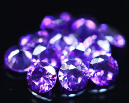 3.74Ct Natural Uruguay VVS Electric Purple Amethyst 12Pcs Lot  D0608