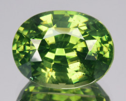 5.02 Cts Natural Sparkling Green Zircon Oval Cut Srilanka
