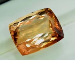 27.20 Carats Radiant Cut Champagne Color topaz loose gemstone @Pakistan