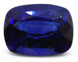 3.15ct GRS Certified Royal Blue Cushion Cut Sapphire from Sri Lanka/Ceylon