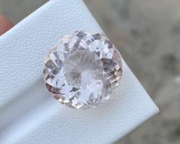 12.75 Carats Morganite Round Cut Gemstone From Afganistan