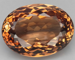 20.21  ct. 100% Natural Topaz Orangey Brown Brazil
