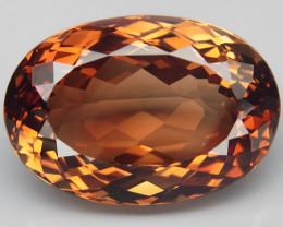 22.22 ct. Top Quality 100% Natural Topaz Orangey Brown Brazil