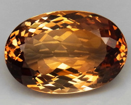 17.09 ct. Top Quality 100% Natural Topaz Orangey Brown Brazil