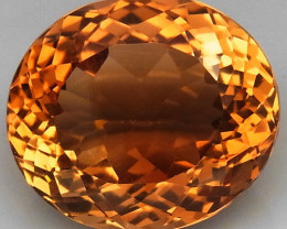 12.40 ct. Top Quality 100% Natural Topaz Orangey Brown Brazil