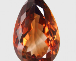 18.76  ct. Top Quality 100% Natural Topaz Orangey Brown Brazil