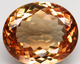 15.35 ct. Top Quality 100% Natural Topaz Orangey Brown Brazil