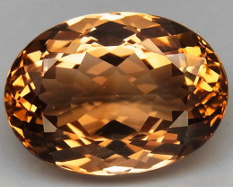 13.45 ct. Top Quality 100% Natural Topaz Orangey Brown Brazil