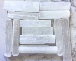12 mini Holistic Selenite Sticks