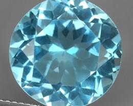 11.80 Cts swiss  Blue Topaz 13.90 mm round