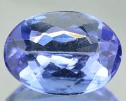 Natural Purplish Blue Tanzanite 0.83 Cts Oval Cut Tanzania