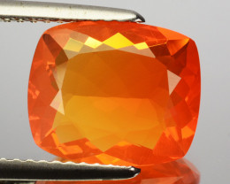 2.38 Cts Natural Top Orange Fire Opal Mexico Gem (Video Avl)
