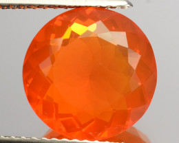 3.21 Cts Natural Top Orange Fire Opal Mexico Gem (Video Avl)
