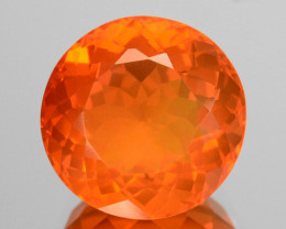 3.19 Cts Natural Top Orange Fire Opal Mexico Gem (Video Avl)