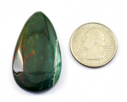 Genuine 51.00 Cts Bloodstone Pear Shape Cabochon