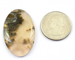 Genuine 40.00 Cts Flower Agate Cabochon