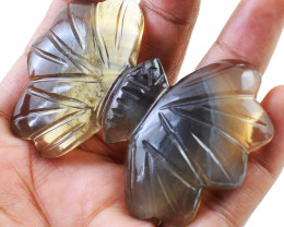 Genuine 285.00 Cts Multicolor Fluorite Craved Butterfly