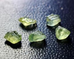Natural - Unheated Green Sapphire Clean Facet Rough