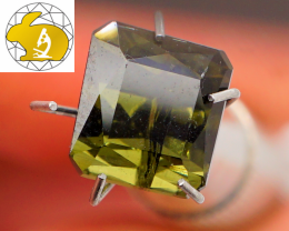 Fancy Cut! Cert. Olive Tourmaline (Brazil) | FREE TRACKED SHIPPING!