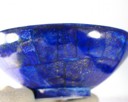 1881.90 CT Unheated ~ Natural Blue  color Lapis Carved Bowl Special Shape