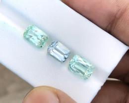 6.90 Ct Natural Green Transparent Tourmaline Gems Parcels
