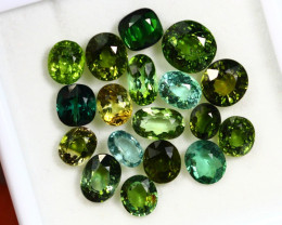24.52cts Natural Green Colour Tourmaline Lots / RD115